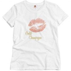 Gold Champagne Kiss