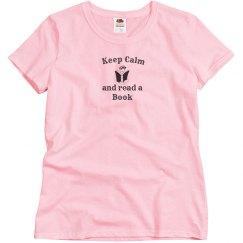 Keep Calm - Read Book pink