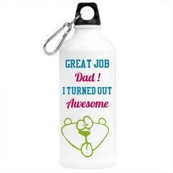 Great Job Dad Water Bottle