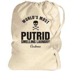 Andrew's laundry bag