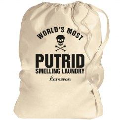 Cameron's laundry bag
