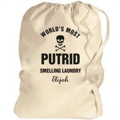 Elijah's laundry bag