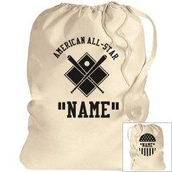Baseball laundry bag