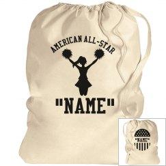 Cheerleader laundry bag