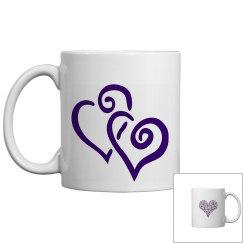 Purple Love Heart Mug