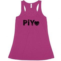 PiYo Love Dark Pink distressed