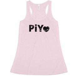 PiYo Love Pink distressed
