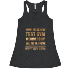 New Year's Gym Membership Humor