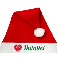 Volleyball Santa Hat With Custom Name