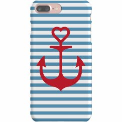 Naval Anchor Love Case