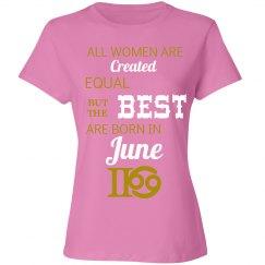 june tshirt pink/gold/wht