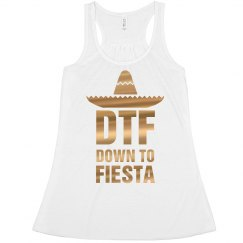 Metallic Down To Fiesta Cinco Crop