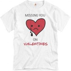 missing u on valentines
