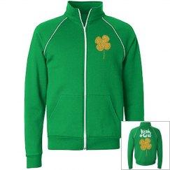 Gold Shamrock Irish Girl