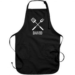 David personalized apron