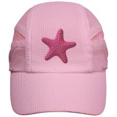 Pink Starfish Silver Dots