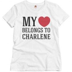 Heart belongs to charlene