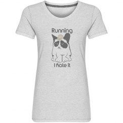 Grumpy Cat hate running