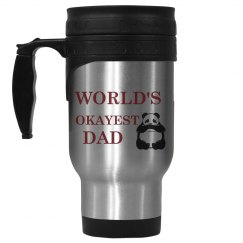 World's Okayest Dad Travel Mug