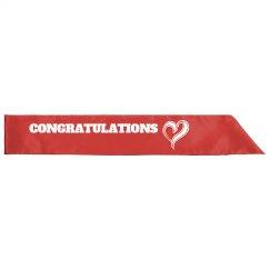 Congratulations Sash