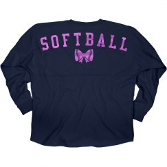 Cute Metallic Softball Jersey