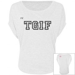 TGIF white top