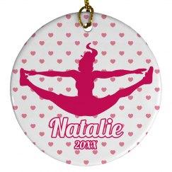 Cheerleader Ornament Gift With Custom Name
