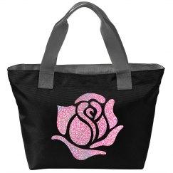 Pink Glitter Rose