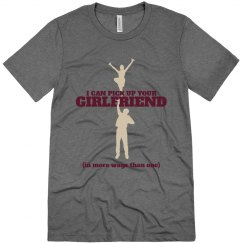 Male Cheerleader Pride School Colors Custom Shirt