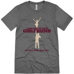 Male Cheerleader Pride School Colors Custom Shirt