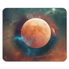 Encircled moon mousepad