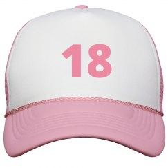 18 Pink Cap