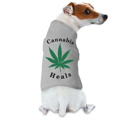 Cannabis Heals Dog Shirt