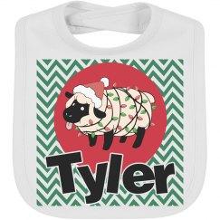 Sheep Christmas bib