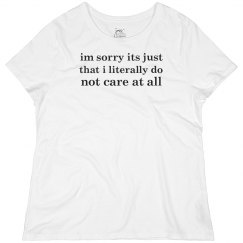 Just Don't Care, Sorry