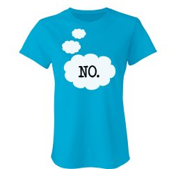 """The answer is 'NO' "" Tee"