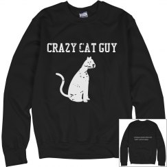Crazy Cat Guy Sweatshirt