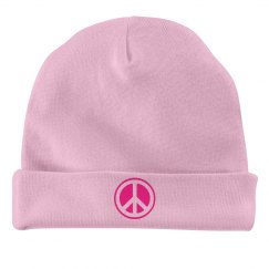 Neon Pink Peace Sign