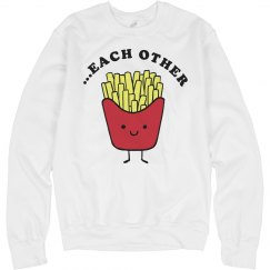 Cute Fast Food Couple Fries