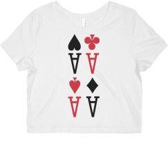 4 Aces Crop Top