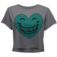 Happy Heart Junior Fit District Relaxed Crop T-Shirt