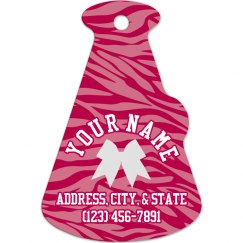 Cheer Bag Tag Zebra Pink