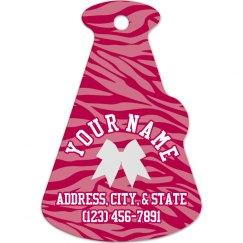 Cheer Bag Tag Zebra Pink