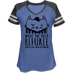 Funny Football Cat Relaxed Fit Game V-Neck