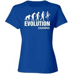 Evolution cleaning lady shirt