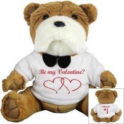 Valentine's stuffed Bulldog