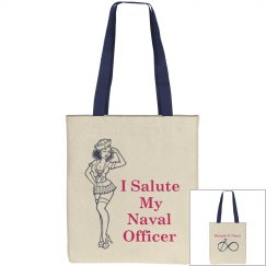 Salute Naval Officer Tote