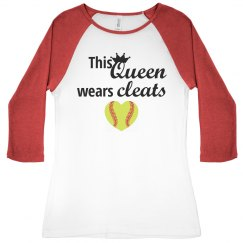 This Queen Wears Cleats Softball