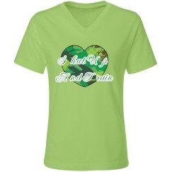 shut up t green