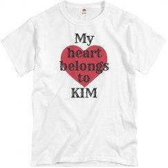 Heart belongs to kim